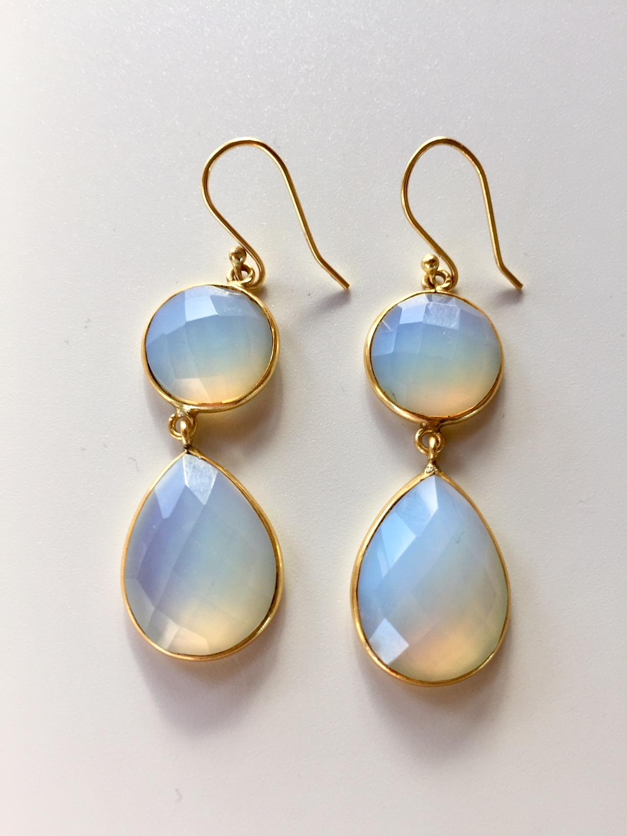 Well-liked Gold Moon Stone Earrings - Julie McAfee - Transformational Guide FI99